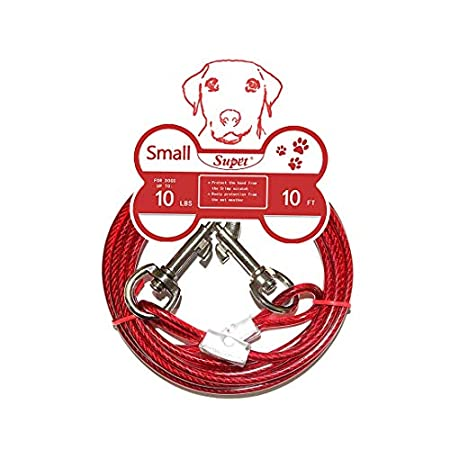 Supet Tie-Out Leinen Hofleine für Hunde Haustier Tie Out Cables Hundeleine mit Anti-Winding Metall Ring Hunde Run Kette…