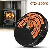 Kamin Ofen Thermometer, Essort Magnetisch Temperaturanzeige Holz Ofenrohr Rauchrohr