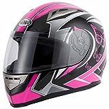 VCAN v-can V158EVO motocross casco da moto casco integrale ACU Gold Stamped, Pink, M(57-58cm)