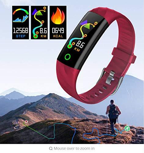 zlywj cardiofrequenzimetro braccialetti smart con schermo a colori sport bluetooth ip68 impermeabile usb 3.0 monitoraggio della pressione sanguigna