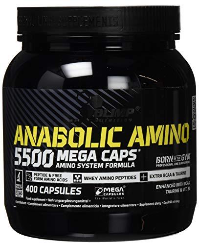 Olimp Anabolic Amino 5500 Mega Caps | Aminosäuren | 66 Portionen | 400 Kapseln, 1er Pack (1 x 464 g Dose) -