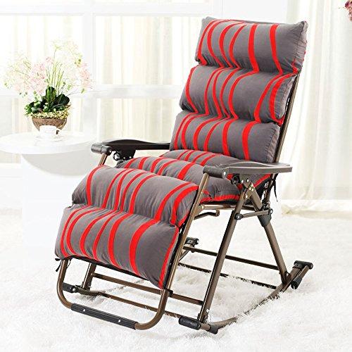 Brisk- Liegestühle Sessel Klappbarer Mittagspausenstuhl Wicker Stuhl Schütteln Sie Den Stuhl Balkon Beiläufig Schaukelstuhl (Farbe : 1003) -