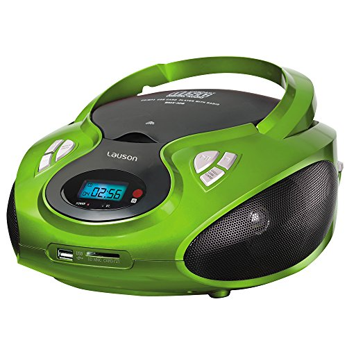 Lauson CP433 CD-Radio mit CD MP3 USB Player SD-Card Reader Tragbares Kinder Radio Boombox tragbarer CD Player
