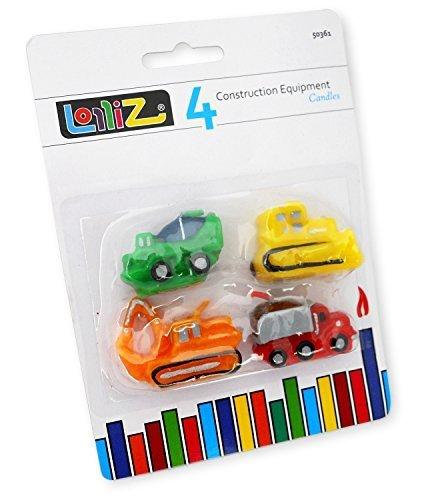 LolliZ Bougies d'anniversaire - voitures de construction 0810550024445