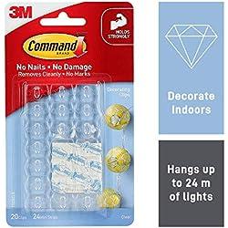 Command Clips de décoration avec bandes adhésives transparentes