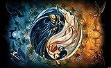 Tapeto Fototapete - Alchemy Yin Yang Leben Tod - Vlies 416 x 254 cm (Breite x Höhe) - Wandbild Sonstiges