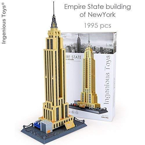 Ingenious Toys Geniale Spielsachen Architektur Empire State Building Modell / 1995pcs Bauklötze Baukasten #E212 (Architektur-diagrammen)