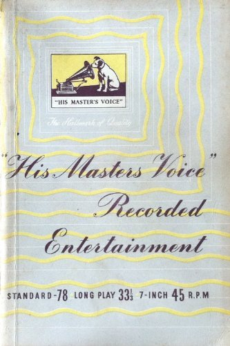 His Master's Voice recorded entertainment 1953/54