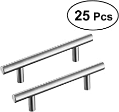 25 PCS Cabinet Hardware T Bar Cabinet Pulls Cabinet Knobs Kitchen Handles Bars for Bathroom Bedroom Cupboard Door and Drawer