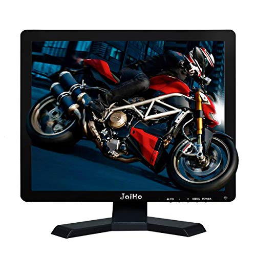 JaiHo 15 Zoll LCD Monitor HDMI VGA Monitor 1024 x 768 Auflösung 1080P HD Monitor Farbbildschirm mit VGA/AV/HDMI/BNC/USB Kopfhörer-Ausgang, integrierte Dual-Lautsprecher schwarz 19 Inch 1280x1024 Crt-monitore