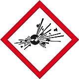 LEMAX® Gefahrensymbol Explodierende Bombe GHS01,Folie,selbstklebend,105x105mm,2/BOG
