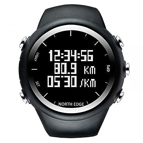 North Edge pour homme Digital Montre-bracelet montre GPS de course étanche Smart d'activité Fitness