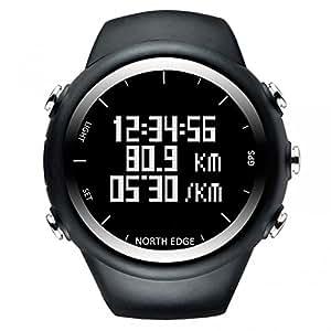 NORTH EDGE Mens digital Wristwatch GPS Running Watch Waterproof Smart Activity Fitness Tracker
