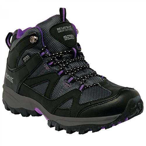 Regatta Womens/Ladies Gatlin Mid Waterproof Padded Walking Boots Peat / Vivacious