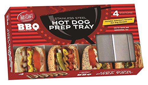 Soporte y preparar tacos o Hot Dogs de forma fácil, limpiar. Puede contener hasta 4estándar taco conchas o Hot Dogs en este Funcional Hot Dog bandeja. Garantizada para hacer tacos desordenados y Hot Dogs una cosa del pasado. Apta para lavavajillas. ...