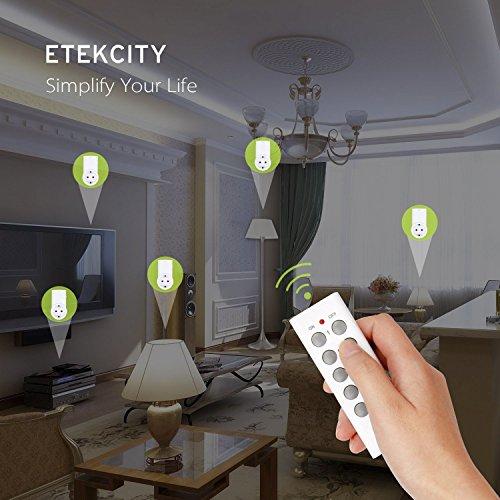 ETEKCITY 5 Kanal Programmierbare Fernbedienung für Fernsteckdose