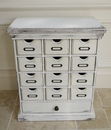 Vintage Style Antique White Small Drawer Storage Chest with Drawer