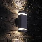 Biard - Applique Extérieure Murale LED GU10 - Double Faisceau - Design Rectangulaire...
