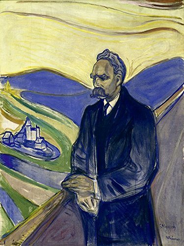 Artland Qualitätsbilder I Wandtattoo Wandsticker Wandaufkleber 60 x 80 cm Menschen Mann Malerei Gelb D3AZ Porträt von Friedrich Nietzsche 1906 - 1906 Foto