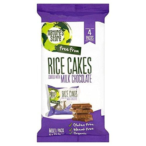 Conserver Le Lait Biologique Des Gâteaux De Riz Au Chocolat De La Nature Sans Gluten 4 X 33.3G - Paquet de 6