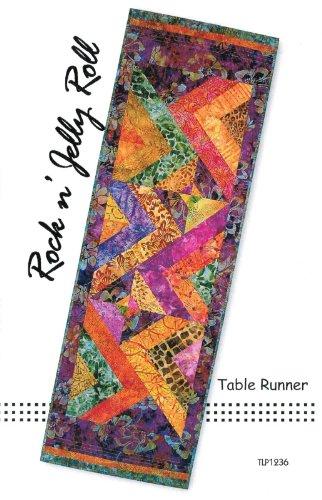 Tiger Lily Press Rock 'n Jelly Roll Tischläufer Jelly Roll 6,35 cm Streifen freundlich ca. 41 x 101,6 cm -