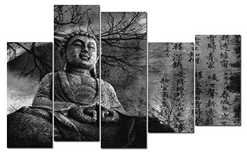 DekoArte 131 – Cuadro moderno, Buda Zen, 150 x 100 cm