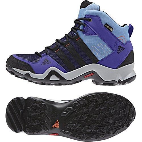 Adidas Ax 2 Mid Gtx Boot - Carbon / Noir / Sharp Gris 5 Night Flash / Black / Lucky Blue