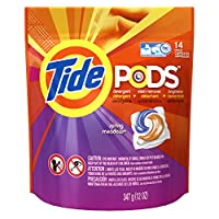 Tide PODS Laundry Detergent HE, Spring Meadow - 14 ct pkg (2 pack)