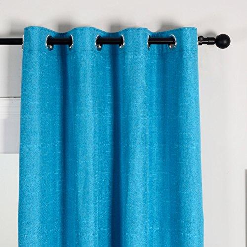 Top finel tende panne lino oscuranti con occhielli per sole decorativi finestra balcone casa 1 pezzo 140x245 turchese