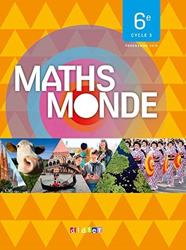Maths Monde 6e - Livre