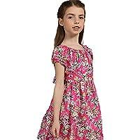 Tkiames Kids Girls Sundress Vintage Skater Embroidered Floral Party Dress Size 2-3 Year