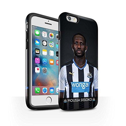 Officiel Newcastle United FC Coque / Brillant Robuste Antichoc Etui pour Apple iPhone 6S+/Plus / Pack 25pcs Design / NUFC Joueur Football 15/16 Collection Sissoko