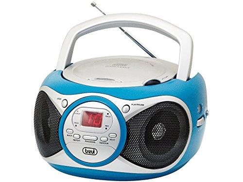 Trevi CD 512 Lettore CD Portatile con Radio e AUX-IN, Turchese