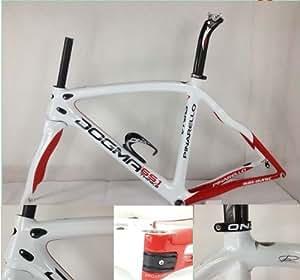 Dogma 2013 Carbon Fiber Road Bike Frame de cadres et fourches Think2 Blanc / rouge