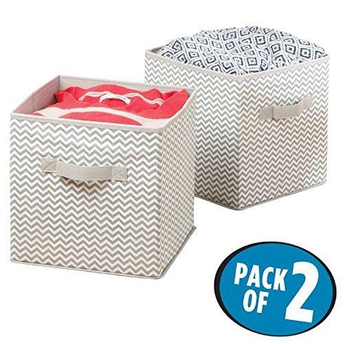 Mdesign cesto portaoggetti – scatole portaoggetti perfette per ogni ambiente – scatole per armadi versatili – confezione da 2 pezzi