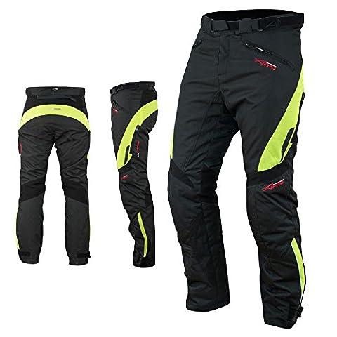 Pantalon Impermeable Homme Protections CE Thermique Motard Moto Fluo
