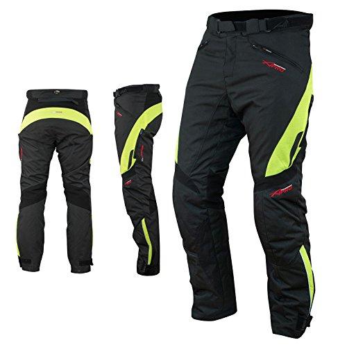 A-Pro Pantaloni Impermeabile Moto Imbottitura Termica Estraibile Traspirante Fluo 32