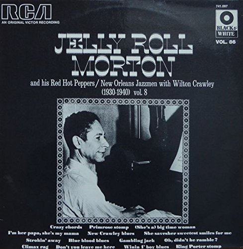 Jelly Roll Morton & His Red Hot Peppers - 1930 - 1940. VINYL LP. VG+/VG+ (Roll Wilton Jelly)