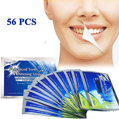 White Stripes 56pcs Zahnaufhellungs Bleaching Strips für Weißere Zähne mit Advanced No Slip Technology Teeth Whitening Strips Zahnpflege Set