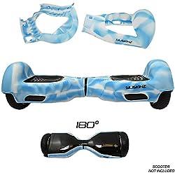 """SILISKINZ® cubierta de la caja de la jalea del silicón de 180 grados Hoverboard - para 6.5 """"Scooter elegante de la rueda 2 de Swegway (GLOW IN THE DARK - CLOUD)"""