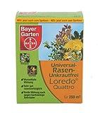 Bayer Garten Loredo Quattro Universal Rasen-Unkrautvernichter, Braun, 250 ml