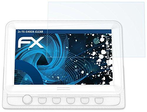 atFoliX Schutzfolie kompatibel mit Tristan Auron BT2D7011 Panzerfolie, ultraklare und stoßdämpfende FX Folie (2X)