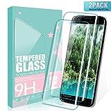 SGIN Galaxy S7 Edge Panzerglas Schutzfolie, [2 Stück] Premium Gehärtetem Glas Bildschirmschutzfolie, Anti-Fingerabdruck, Blasenfrei, für Samsung Galaxy S7 Edge - Transparent