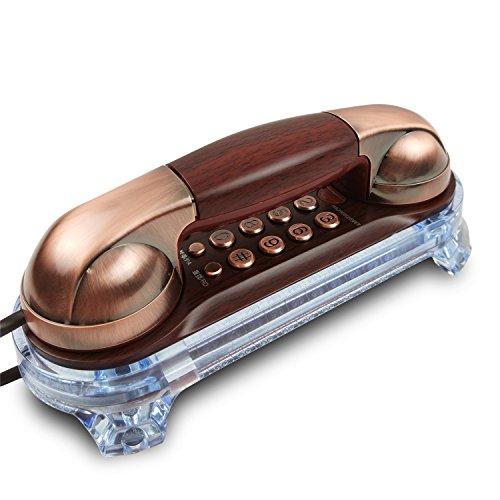 HPPFOTRS Schnurgebundenes Design Wandtelefon Retro Home Wall Telephone Hotel kleine Erweiterung Telefon (Farbe: Rot) Alert-ringer