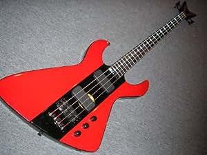 Dean Demonator 4 RDBK Basse 4 cordes Rouge/noir