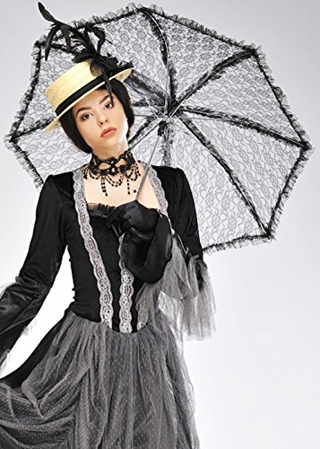 Viktorianischen Ladies Black Lace - Black Lace Sonnenschirm