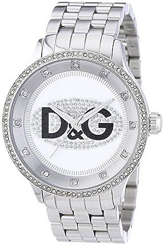Dolce&Gabbana - DW0131 - Montre Mixte - Quartz Analogique - Cadran Blanc - Bracelet Acier Argent
