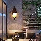 Retro Im freien Wandleuchte Licht-Antike-Bronze Laterne Jahrgang Balkon Garten Kerosene Korridor Flur Bar Hinterhof E27 Außen Porch Sconce IP44 22 *   40cm