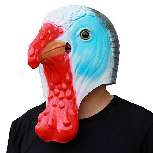 CreepyParty Deluxe Neuheit-Halloween-Kostüm-Party-Latex-Tierkopf-Schablone Masken Die türkei