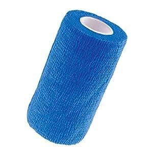 Fasciatura coesiva, blu 5cm x 4,5 m scatola di 6